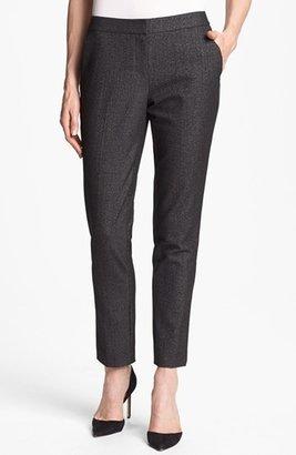 Vince Camuto Faux Leather Tuxedo Stripe Pants (Petite)