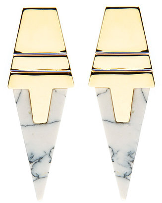 Eddie Borgo Inlaid Pointed Earring