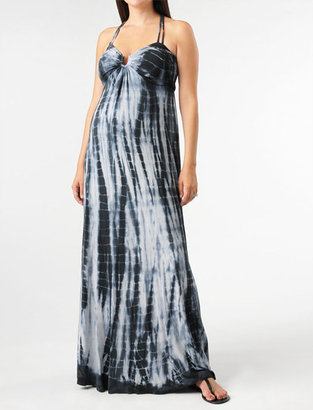 A Pea in the Pod Spaghetti Strap Hardware Detail Maternity Maxi Dress