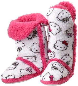 Hello Kitty Junior's Tall Sherpa-Trim Slipper Bootie