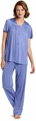 Vanity Fair Women's Plus Size Coloratura Sleepwear Short Sleeve Pajama Set 90807