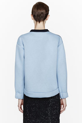 Stella McCartney Blue colorblocked neoprene sweatshirt
