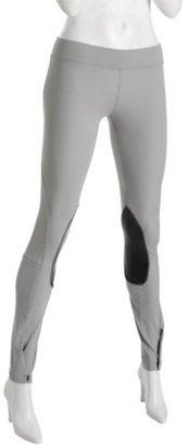 LnA silver stretch nylon riding leggings