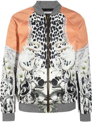 Emma Cook Printed satin-twill bomber jacket