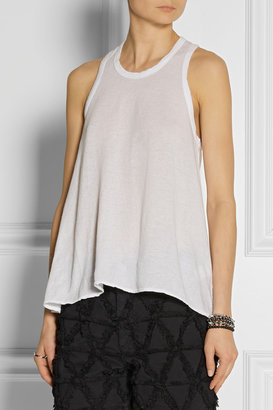 James Perse Cotton-jersey crepe tank