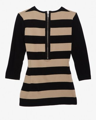 Intermix Exclusive For Contrast Stripe Knit Top