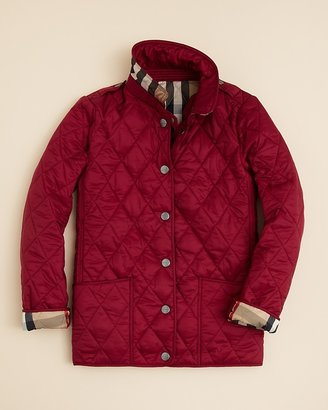 Burberry Girls' Mini-Pirmont Quilted Jacket - Sizes 7-14
