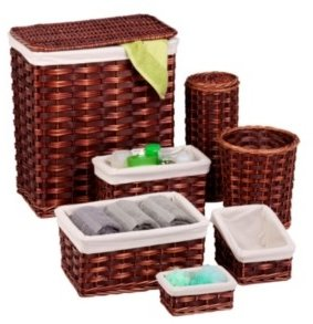 Honey-Can-Do 7-Piece Wicker Hamper & Basket Set