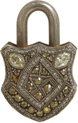 Sevan Biçakci White & Fancy Diamond Large Padlock