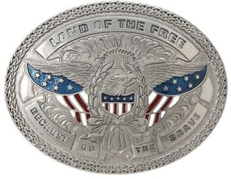 M&F Western Land Of the Free Buckle (Silver) Belts