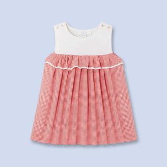 Jacadi Color block gingham dress