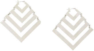 BCBGMAXAZRIA Oversized Tribal Chevron Earrings