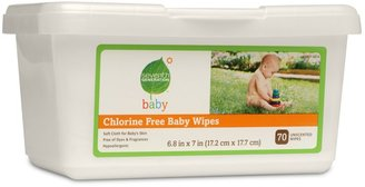 Seventh Generation Chlorine Free Baby Wipes Tub 70ct.