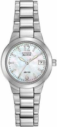 Citizen Chandler Womens Silver Tone Stainless Steel Bracelet Watch-Ew1670-59d