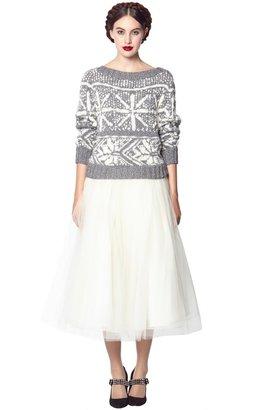 Alice + Olivia Justina Long Tulle Princess Skirt