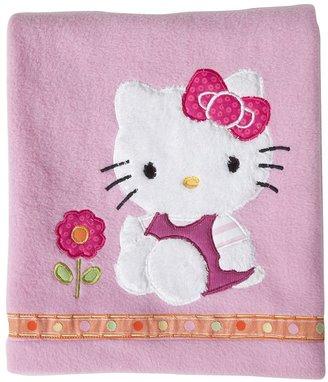 Hello Kitty garden fleece blanket by lambs & ivy