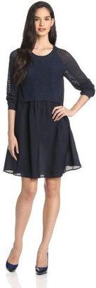 Twenty8Twelve Women's Francine Long-Sleeve Dress