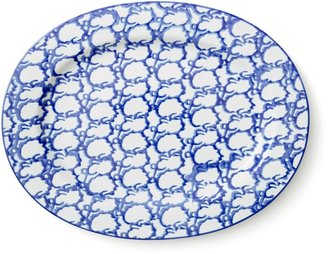 Tory Burch Spongeware Oval Serving Platter