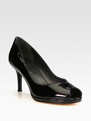 Stuart Weitzman Vase Patent Leather Pumps
