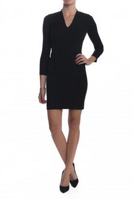 HELMUT Slim Sleeve Dress Black
