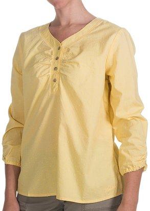 Woolrich Bay Creek Henley Shirt - Cotton Dobby, 3/4 Sleeve (For Women)