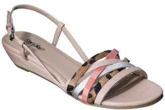 Mossimo Women's Patrice Sliver Wedge Strappy Sandal - Nude