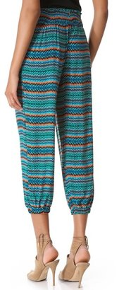 T-Bags Tbags los angeles Cropped Print Harem Pants
