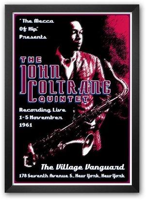 "Art.com John Coltrane Quintet at the Village Vanguard, New York City, 1961"" Framed Art Print by Dennis Loren"
