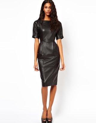 Asos Leather Wiggle Dress