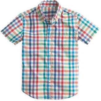 Rainbow Boys' Secret Wash short-sleeve shirt in tattersall
