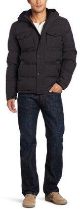 Levi's Men's Herringbone 2 Pocket Hooded Puffer Jacket
