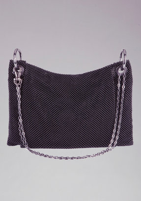 Bebe Chainmail Metal Clutch
