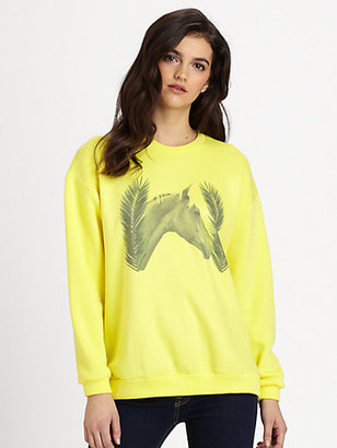 LnA Horse-Print Sweatshirt