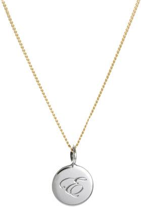 Laura Lee Jewellery E Letter Pendant Necklace