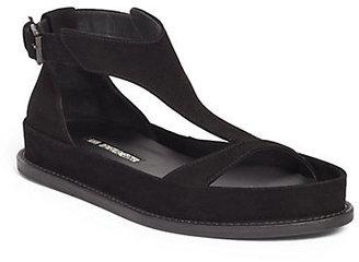 Ann Demeulemeester Suede T-Strap Sandals