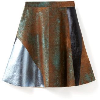 3.1 Phillip Lim Block Foiled Skirt