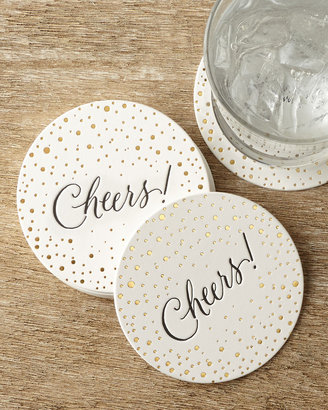 Horchow Bubbly Cheers Coasters