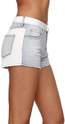 Bullhead Denim Co High Rise Exposed Button Shorts