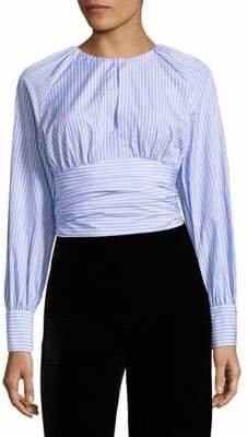 Diane von Furstenberg Keyhole Cotton Blouse