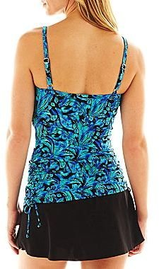 JCPenney Trimshaper® Side-Tie Tankini Swim Top