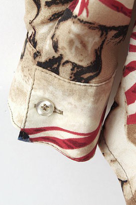 Romwe Running Horse with USA Flag Print Shirt