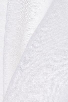 LnA Mosshart cutout slub linen and cotton-blend tank