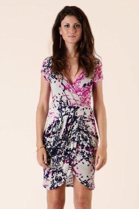 Glam Digital Print Drape Dress