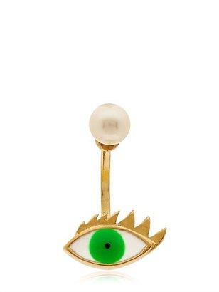 Delfina Delettrez Cartoon Eye And Pearl Mono Earring