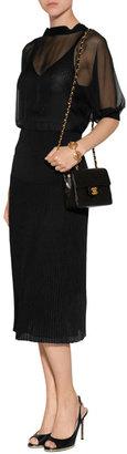 Valentino Silk Jersey Dress in Black