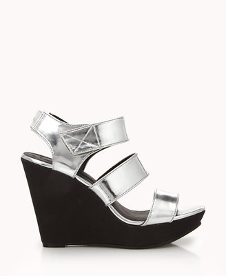 Forever 21 Metallic Wedge Sandals