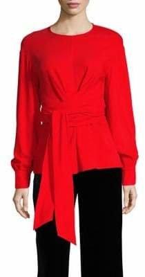 Diane von Furstenberg Long-Sleeve Wrap Blouse
