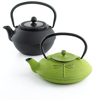Primula CLOSEOUT! Cast Iron Green Dragonfly 28 Oz. Teapot