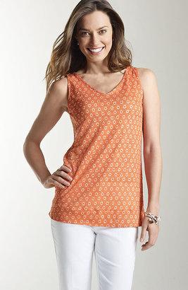 J. Jill Printed summer linen knit tank