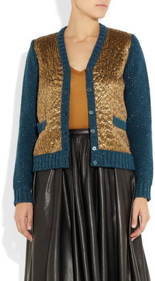 Rochas Lamé-front wool cardigan